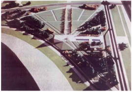 1965 plan of the Friendship park (source: Beogradsko Nasledje)