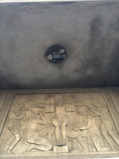 Detail from the building of the First Women's Gymnasium (today: Fifth Gymnasium)